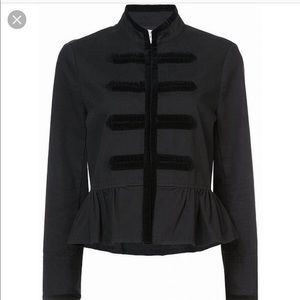 Nwot Kate Spade Velvet Trim Military Jacket Coat s